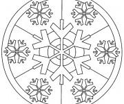 Coloriage et dessins gratuit Flocon de Neige pour Adulte à imprimer
