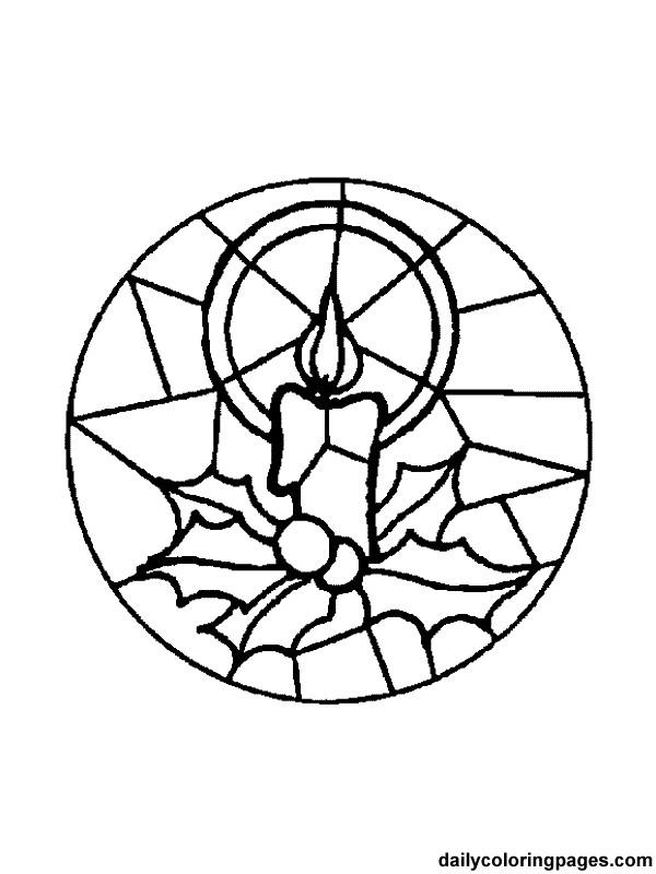 Coloriage et dessins gratuits Illustration Mandala Noel à imprimer