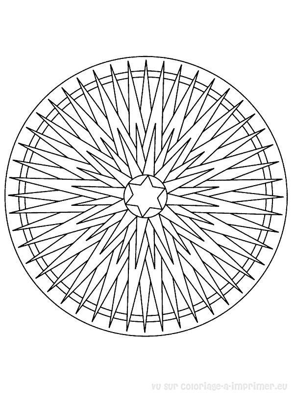 Coloriage Mandala Noel En Ligne.Coloriage Mandala Etoile De Noel En Ligne Dessin Gratuit A Imprimer