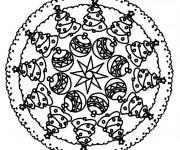 Coloriage et dessins gratuit Mandala Noel 10 à imprimer