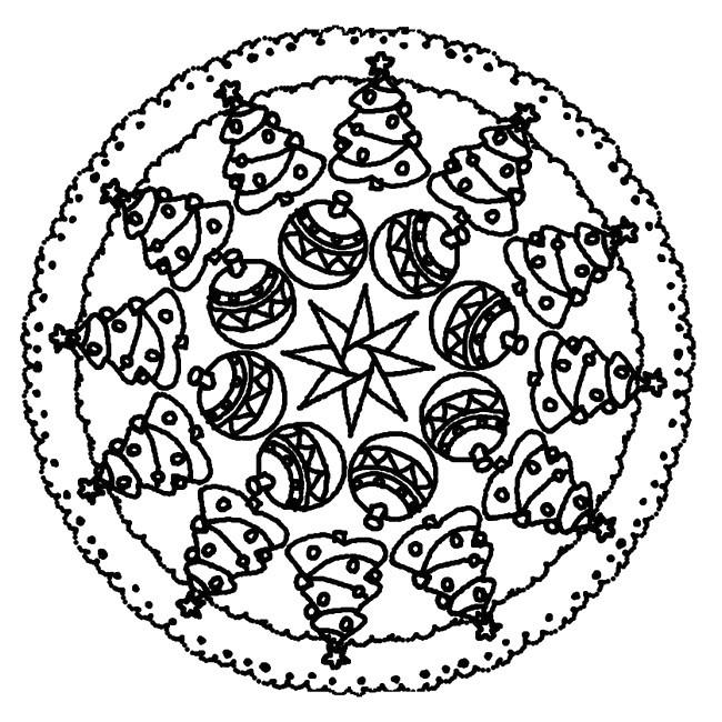 Coloriage Mandala Noel 10 Dessin Gratuit A Imprimer