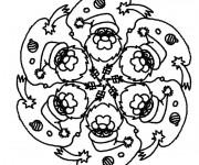 Coloriage et dessins gratuit Mandala Noel 11 à imprimer