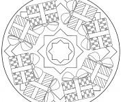 Coloriage Mandala Noel 13