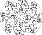 Coloriage Mandala Noel 16