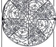 Coloriage Mandala Noel 3