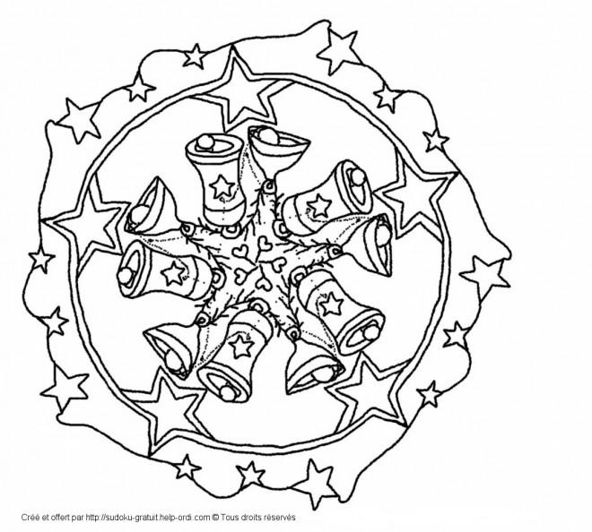 Coloriage mandala noel 40 dessin gratuit imprimer - Coloriage de mandala de noel ...