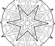 Coloriage Mandala Noel 5