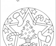 Coloriage Mandala Noel 6