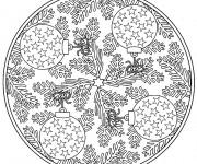 Coloriage et dessins gratuit Mandala Noel 9 à imprimer