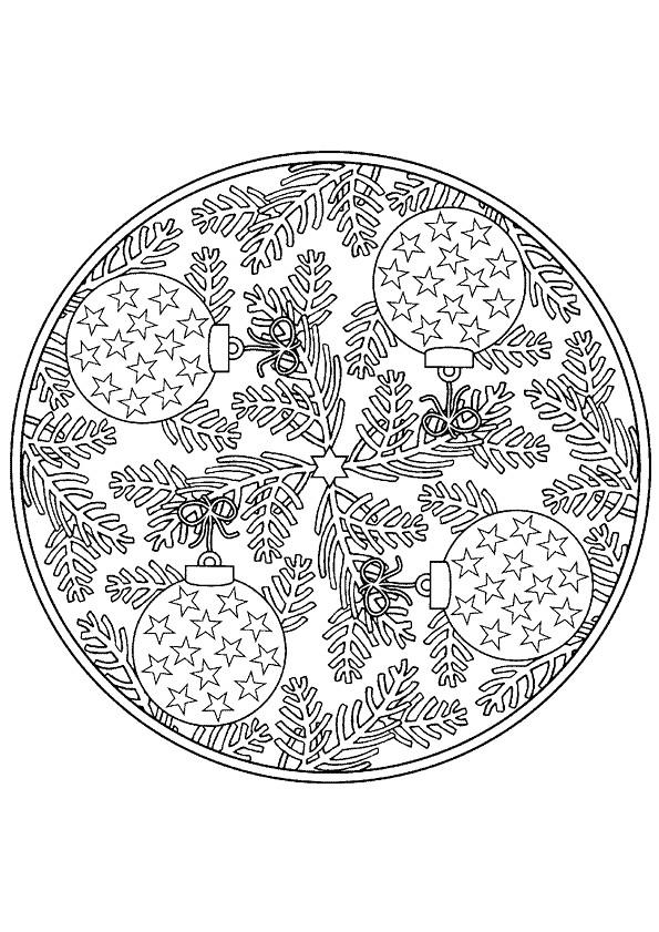 Coloriage et dessins gratuits Mandala Noel 9 à imprimer