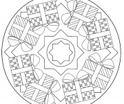 Coloriage et dessins gratuit Mandala Noel en ligne à imprimer