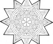 Coloriage et dessins gratuit Mandala Noel en vecteur à imprimer