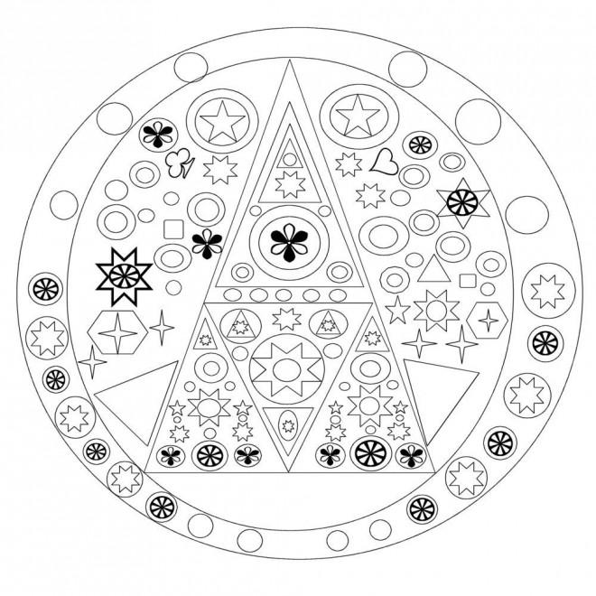 Coloriage et dessins gratuits Mandala Noel Géométrique à imprimer