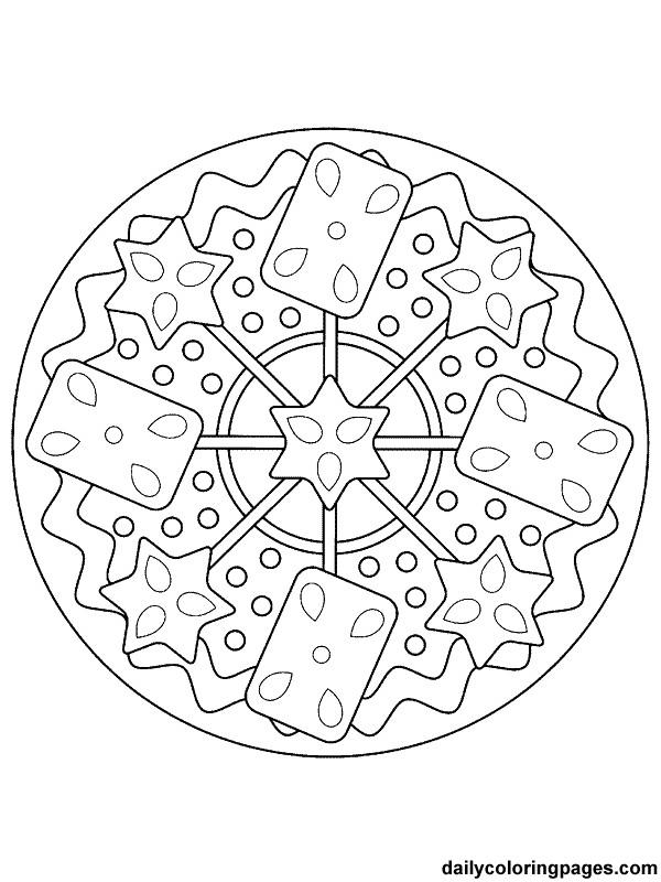 Coloriage Mandala Noel magnifique pour enfant dessin gratuit à imprimer
