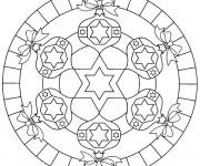 Coloriage et dessins gratuit Mandala Noel pour Décoration à imprimer
