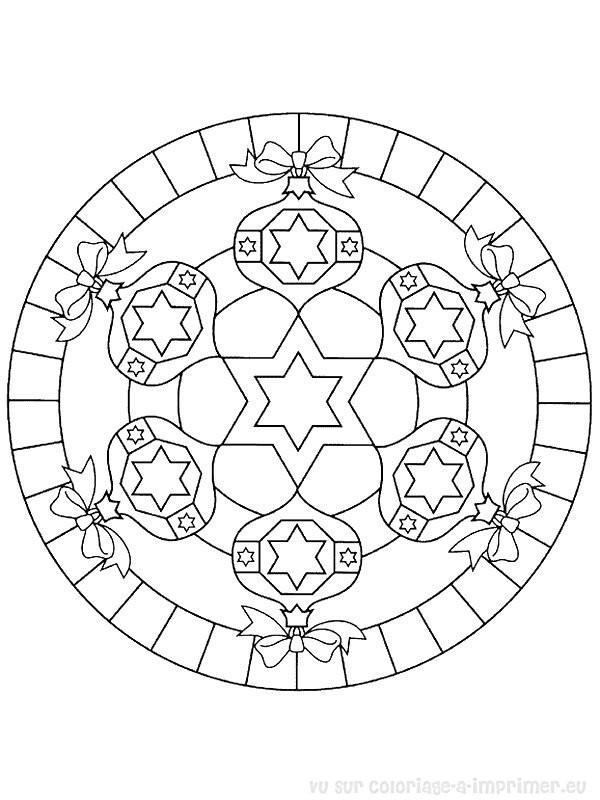 Coloriage Mandala Noel Pour Décoration Dessin Gratuit à Imprimer