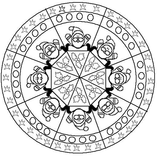 Coloriage Mandala Noel Pour Enfant Dessin Gratuit à Imprimer