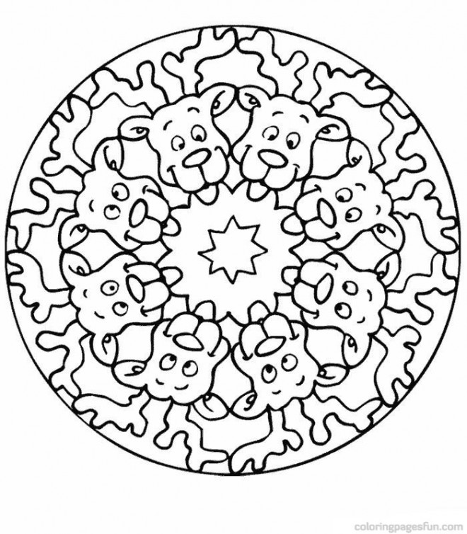 Coloriage Mandala Renne De Noel Dessin Gratuit à Imprimer