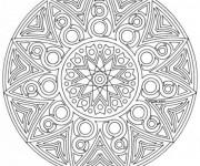 Coloriage Adulte Mandala Soleil