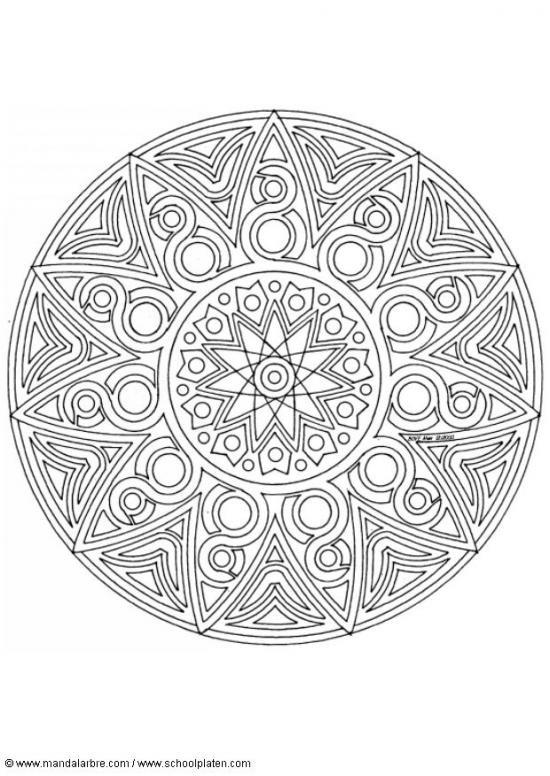 Coloriage et dessins gratuits Adulte Mandala Soleil à imprimer