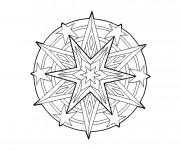 Coloriage et dessins gratuit Étoile mandala à imprimer