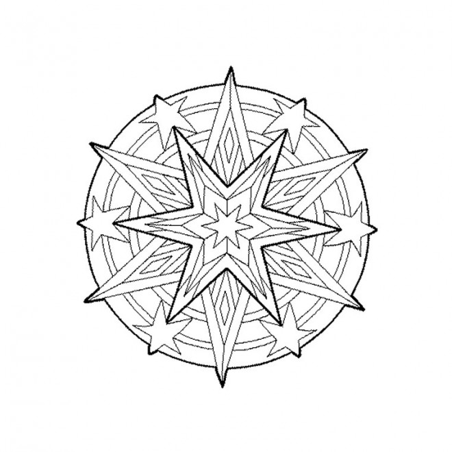 Coloriage et dessins gratuits Étoile mandala à imprimer