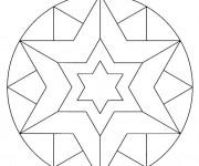 Coloriage Mandala Étoile couleur