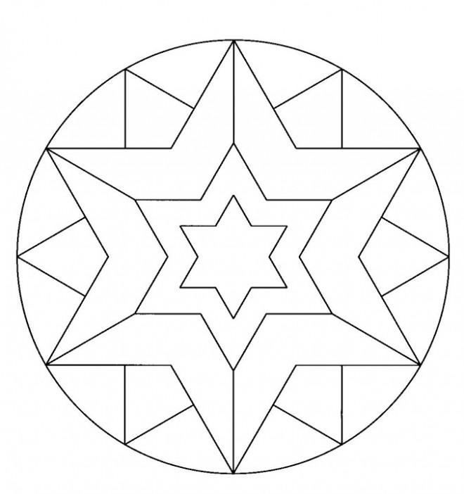Coloriage Mandala Etoile Couleur Dessin Gratuit A Imprimer