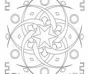 Coloriage Mandala étoile pour Adulte