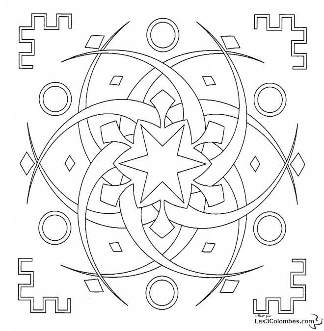 Coloriage et dessins gratuits Mandala étoile pour Adulte à imprimer