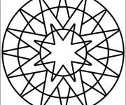 Coloriage dessin  Mandala Facile 30