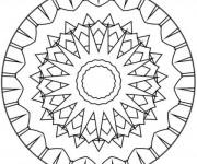 Coloriage dessin  Mandala Facile 46