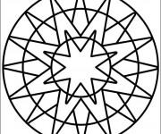 Coloriage Mandala Facile en vecteur