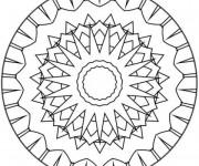 Coloriage Mandala Facile maternelle