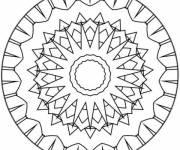 Coloriage Mandala pour enfant facile