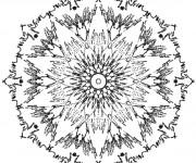 Coloriage et dessins gratuit Mandala Rayons de Soleil à imprimer