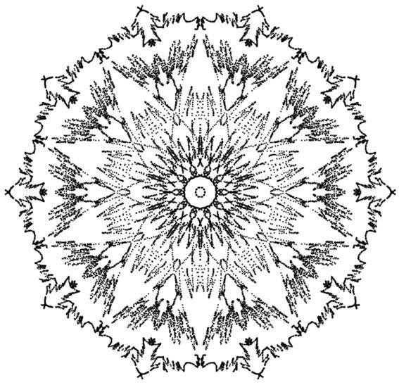 Coloriage et dessins gratuits Mandala Rayons de Soleil à imprimer