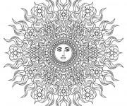 Coloriage dessin  Mandala Soleil 11