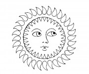 Coloriage dessin  Mandala Soleil 12