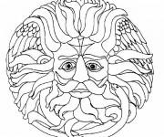 Coloriage dessin  Mandala Soleil 13