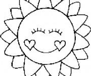Coloriage dessin  Mandala Soleil 14