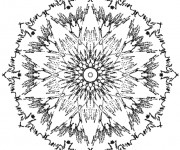 Coloriage dessin  Mandala Soleil 15