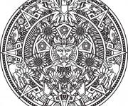 Coloriage dessin  Mandala Soleil 16