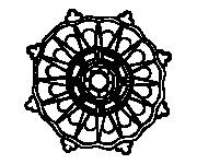 Coloriage dessin  Mandala Soleil 17