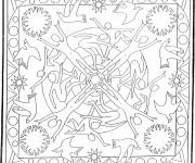 Coloriage Mandala Soleil 20