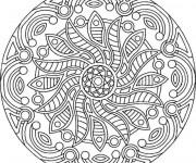 Coloriage Mandala Soleil 21