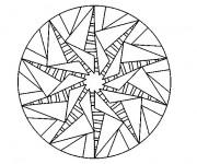 Coloriage dessin  Mandala Soleil 6