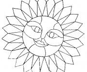 Coloriage dessin  Mandala Soleil 8