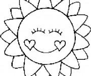 Coloriage Mandala Soleil aimable