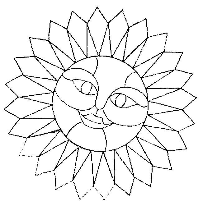 Coloriage mandala soleil avec visage dessin gratuit imprimer - Dessin de soleil a imprimer ...